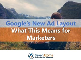 Google�s New Ad Layout: What This Means for Marketers