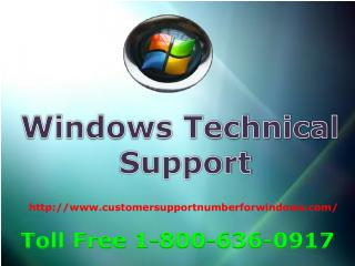 window technical support 18006360917