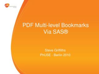 PDF Multi-level Bookmarks Via SAS