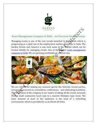 Party Planner  and Event Management Company In Delhi, India