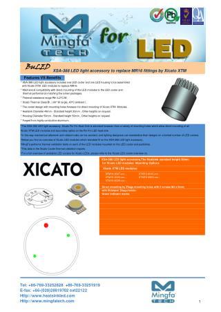 XSA-388 LED Light Accessory