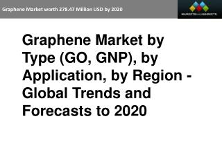 Graphene Market worth 278.47 Million USD by 2020