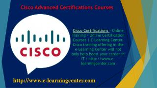 Cisco Advanced Certifications Courses - Online Training