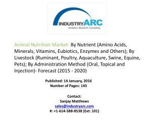 Animal Nutrition Market Analysis - Forecast to 2020