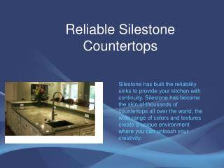 Reliable Silestone Countertops
