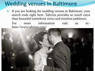 Rehearsal dinner places in Baltimore