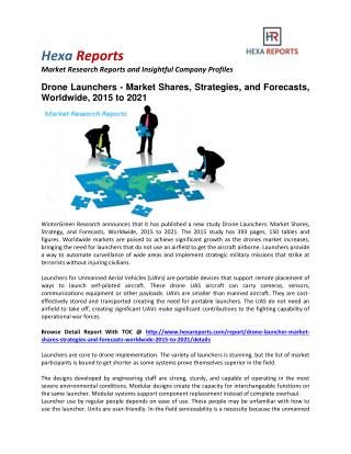 Drone Launchers - Market Shares, Strategies, and Forecasts, Worldwide, 2015 to 2021