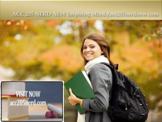 ACC 205 NERD  Inspiring Minds/acc205nerd.com