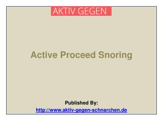 Aktiv Gegen-Active Proceed Snoring