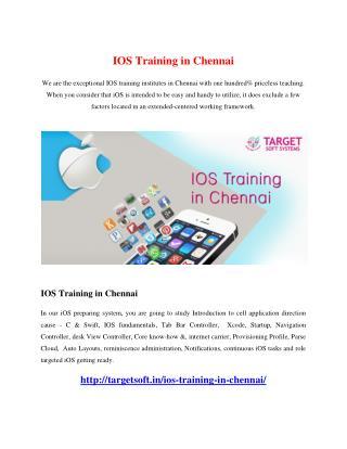 IOS Training in Chennai