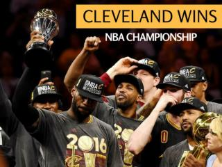 Cleveland wins NBA championship