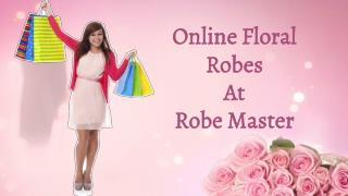 Shop Online Gorgeous Floral Robes For Bridal Party