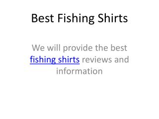 Best Fishing Shirts