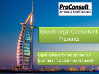 Legal Advisor - Establish Legal Business in Dubai