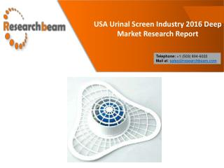 USA Urinal Screen Industry 2016