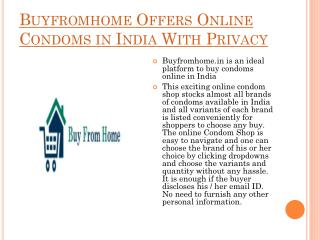 Buy Condoms Online in India With Privacy
