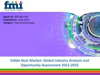 Edible Nuts Market to Witness 5.0% CAGR through 2025 to Surpass US$ 100 Bn in Revenues