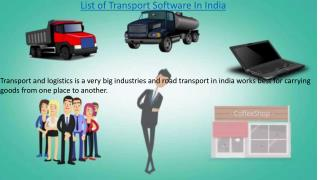 Transport Software In India|Transport Management Solution