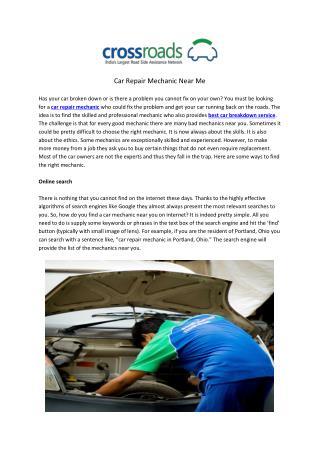 Car Repair Mechanic Near Me
