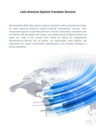 Latin American Spanish Translator Services