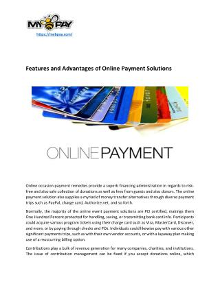 Features and Advantages of Online Payment Solutions