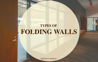Different types of Walls for flexible structures