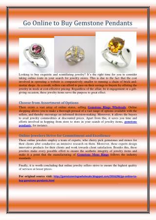Go Online to Buy Gemstone Pendants