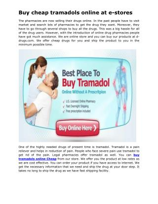 Buy cheap tramadols online at e-stores.pdf