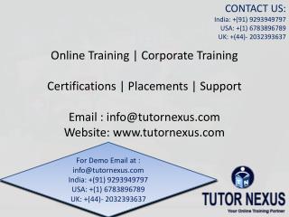 IT SOFTWARE ONLINE TRAINING_tutornexus.com