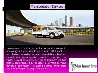 Solanki transport providing transport services in Delhi NCR