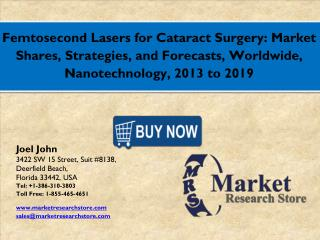 Global Femtosecond Lasers for Cataract Surgery Market 2016: Industry Size, Analysis, Price, Share, Growth and Forecasts