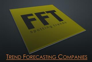 Trend Forecasting Companies
