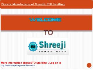 ETO Sterilizer manufacturer Shreeji industries