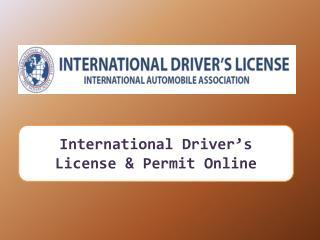 Find International Driving Document Translator Online