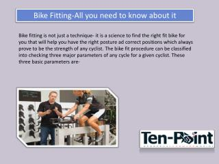 Bike Fitting-All you need to know about the theme or subject