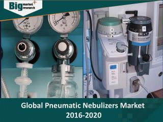 Global pneumatic nebulizers market to grow at a CAGR of 6.36% during the period 2016-2020