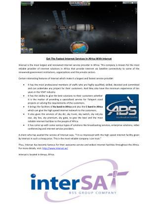 Satellite Internet in Africa