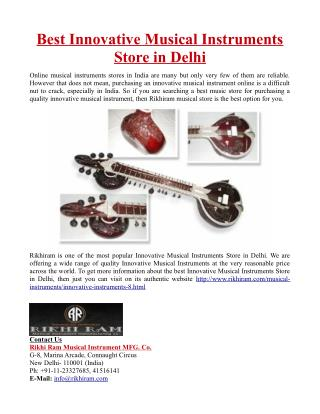 Best Innovative Musical Instruments Store in Delhi