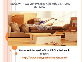 Packers and Movers in Thane (Mumbai) -All City Packers and Movers®