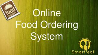 Online Food Ordering System - smarteat