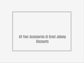 All Your Accessories At Great Jabong Discounts