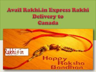 Avail Rakhi.in Express Rakhi Delivery to Canada