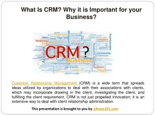 What Is CRM? Why it is Important for your Business?