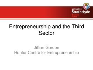 Entrepreneurship and the Third Sector