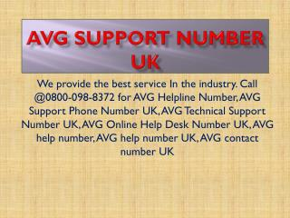 0800-098-8372 Avg Support Number UK
