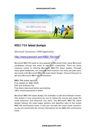 Microsoft MB2-704 latest dumps