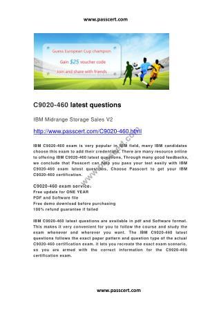 IBM C9020-460 latest questions