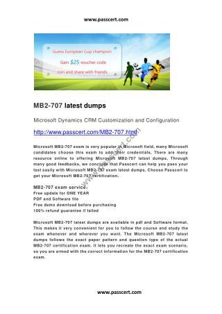 Microsoft MB2-707 latest dump