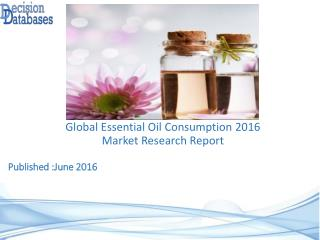 Essential oil Consumption Market Global Analysis and Forecasts 2021