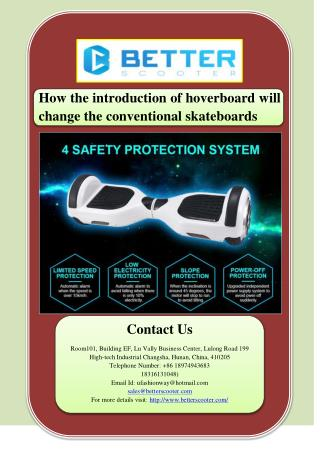How the introduction of hoverboard will change the conventional skateboards
